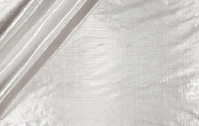Novelty Metallic Douppioni Silk Fabric I-36 Snow