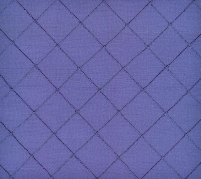 Stitched Douppioni Yarn Dyed Shantung Silk Fabric I-65-4006