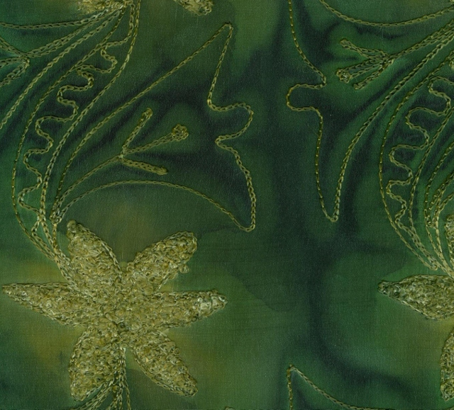 Embroidered Silk Crepe Fabric I-225