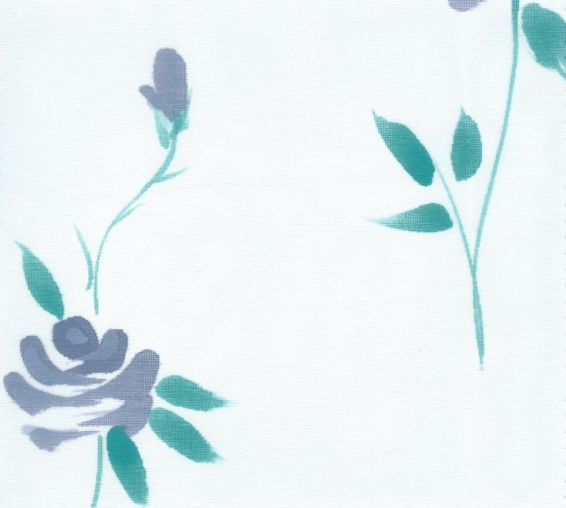Hand Painted Organza Silk Fabric I-239-D