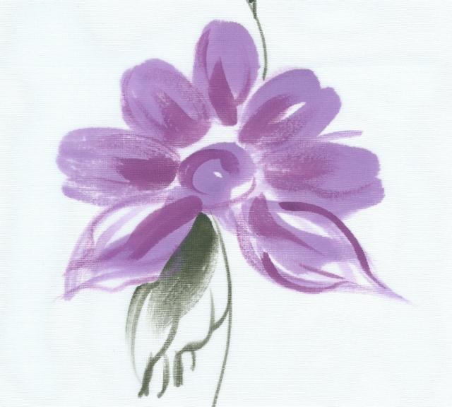 Hand Painted Organza Silk Fabric I-240-E