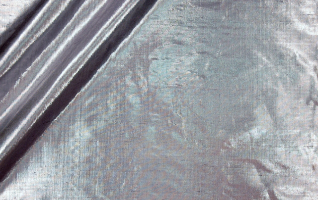 Silk and Metallic Douppioni Fabric I-36 Ice